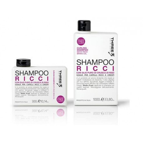 Three Curling šampūnas besigarbanojantiems plaukams