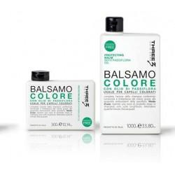 Three Protecting saugantis plaukų spalvą balzamas